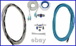 (4) Rockville WB65 Black 6.5 Marine Wakeboard Swivel Tower Speakers+Amplifier