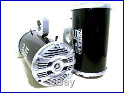 600 Watt Kenwood Marine Black Bling Wakeboard Tower Speakers ATVs SJS Dezign