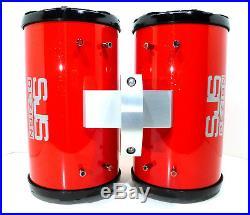 600 Watt Kenwood Red Glitter Gloss Marine Wakeboard Tower Speakers SJS Dezign