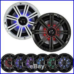6.5 LED Kicker Marine Speakers and Wakeboard Tower Enclosures, 400W Amplifier