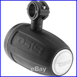 6 DS18 NXL8TPBK 8 Marine Wakeboard Tower Speakers ATV UTV Boat Jeep RGB Light