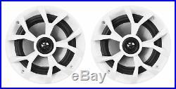 6 Rockville RKL65MBW 6.5 Marine Boat Wakeboard Tower LED Speakers+Amp+Receiver