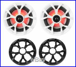 (6) Rockville RKL65MBW 6.5 Marine Boat Wakeboard Tower Speakers withLED+Amplifier