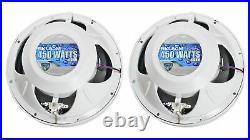 6 Rockville RKL80MW 8 Marine Boat Wakeboard Tower LED Speakers+Amp+Receiver