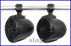 (6) Rockville RWB70B Black 6.5 250w Marine Wakeboard 360° Swivel Tower Speakers