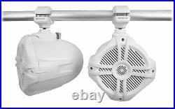 (6) Rockville RWB70W White 6.5 250w Marine Wakeboard 360° Swivel Tower Speakers