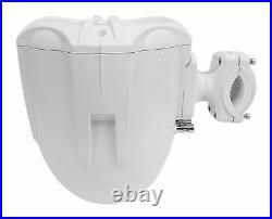 (6) Rockville RWB70W White 6.5 Marine Wakeboard Swivel Tower Speakers+Amplifier