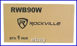 (6) Rockville RWB90W White 8 300w Marine Wakeboard 360° Swivel Tower Speakers