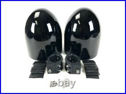 8 Black Painted Fiberglass Wakeboard Tower Enclosure Pods 4 Marine Speakers