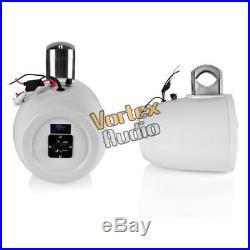 8'' Bluetooth Marine Wakeboard Speaker, Water Resistant 4-Way Tower, 1200 W