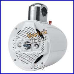 8'' Marine Wakeboard Speaker, Water Resistant 4-Way Tower, 1200 Watt (White)