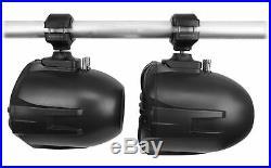 (8) Rockville RWB70B Black 6.5 250w Marine Wakeboard 360° Swivel Tower Speakers