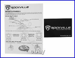 (8) Rockville RWB70W White 6.5 250w Marine Wakeboard 360° Swivel Tower Speakers