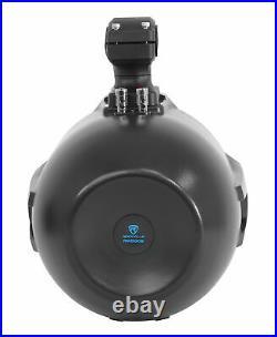 (8) Rockville RWB90B Black 8 300w Marine Wakeboard 360° Swivel Tower Speakers