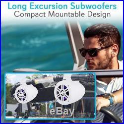 (8) Waterproof Rated Marine Tower Speakers Wakeboard Subwoofer Speaker System