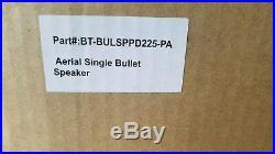 Aerial Bullet Wakeboard Tower Speakers Polished Aluminum Set 2 BT-FRSPPDBASE-PA