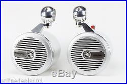 Alpine Wakeboard Tower Speakers 6.5 NEW-Polished! UTV, JEEP, RZR, CART