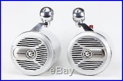 Alpine Wakeboard Tower Speakers 7 NEW Polished! UTV, JEEP, RZR, CART