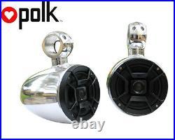 Angle Free Mountable Aluminum Polished Pods Polk DB652 300Watt Speaker Installed