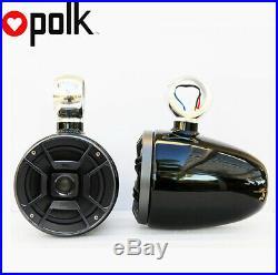 Angle Free Mountable Wakeboard Speaker Polk 6.5 Marine Speaker Black defect