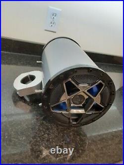BOSS 600 Watt Silver Marine Wakeboard Tower Speakers