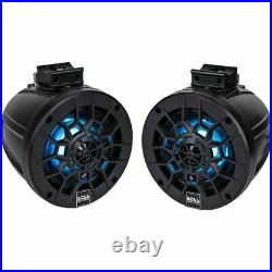 BOSS MPWT50RGB 6.25 250W RMS 2-WAY MARINE WAKEBOARD TOWER SPEAKERS With RGB LED