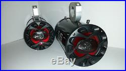 Black Wakeboard Tower Speakers UTV Polaris Razor RZR Radio Stereo Audio Boat