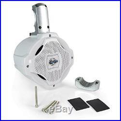 Bluetooth Marine Wakeboard Tower Speaker 6.5 1000 Watt Two Way Audio Wate WHITE