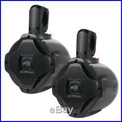 Bluetooth Marine Wakeboard Tower Speakers 6.5 Inch 1000 Watt Pair of Two Way