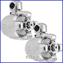 Boss MRWT6C Chrome 1000W 6.5 Marine Boat/ATV/UTV Wakeboard Tower Speaker 2 Pack