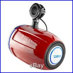 DS18 10 900 Watt Wakeboard Tower Powersport Speakers- 1 Pair (Red), 800W Amp