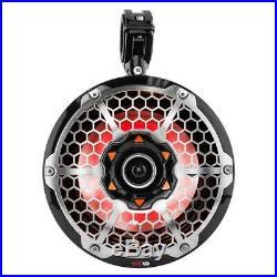 DS18 10 900 Watt Wakeboard Tower Powersport Speakers- 2 Pairs (Red), 800W Amp