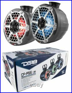 DS18 CFPS6 HYDRO 6.5 Ultra Slim Wakeboard Pod Tower Speaker withRGB LED Lights