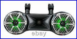 DS18 CF-102TD Dual 10 Carbon Fiber Wakeboard Tower Marine Speaker 2 Way Pod RGB