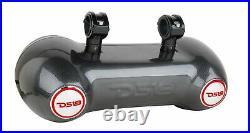 DS18 CF-102TD Dual 10 Carbon Fiber Wakeboard Tower Marine Speaker RGB 2 Way Pod