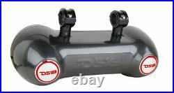 DS18 CF-82TD Dual 8 Carbon Fiber Wakeboard Tower Marine Speaker 2 Way Pod RGB