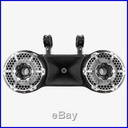 DS18 Dual 10 Black 1800W Wakeboard Tower Marine Speaker RGB 2 Way Pod
