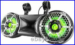 DS18 HYDRO 10 DOUBLE WAKEBOARD POD TOWER SPEAKER WITH 1.75 DRIVER, RGB Lights