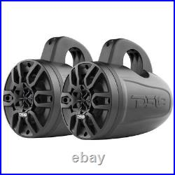 DS18 HYDRO 4 240 Watts 4 Ohm Bluetooth Black Amplified Wakeboard Tower Speakers