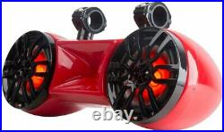 DS18 HYDRO 6.5 DOUBLE WAKEBOARD POD TOWER SPEAKER WITH 1.75 DRIVER, RGB Lights
