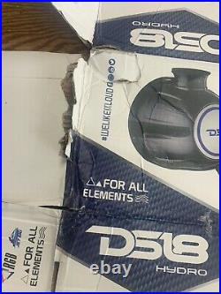 DS18 Hydro8 Wakeboard Pod Tower Speakers Black Carbon Fiber Open Box Brand New