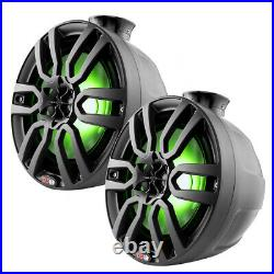 DS18 Hydro 6.5 Compact Wakeboard Pod Tower Speaker RGB Lights 300W Black Pair