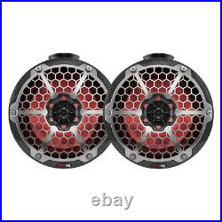 DS18 Hydro 6.5 Compact Wakeboard Pod Tower Speaker RGB Lights Black Carbon Pair