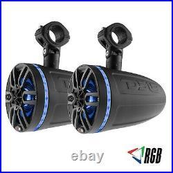 DS18 NXL6TPBKNEO 6.5 Marine Boat Wakeboard Pod Wake Tower Speakers 900W RGB LED