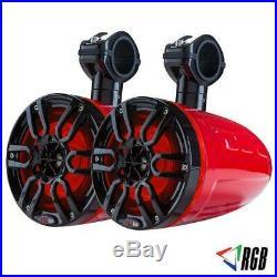 DS18 NXL8TPR 8 Marine Wakeboard Tower Speakers ATV UTV Boat Jeep RGB LED Lights