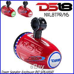 DS18 NXL8TPR/NS 8 Wakeboard Tower Speaker Enclosure + RGB LED (No Speaker)