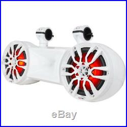 DS18 NXL 62TD Hydro White Dual 6.5 Wakeboard Tower ATV UTV Boat RGB LED