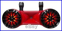 DS18 NXL-82TDR Hydro Red 8 Water Proof Double Wakeboard Tower Speaker with Car
