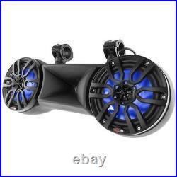 DS18 NXL-82TD/BK 8 Wake Board Tower Speakers RGB LED Lights 900 W Marine Black