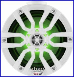 DS18 NXL-PS6W Mini 6.5 Wake Tower Marine Pod Speakers 600W RGB LED Jetski White
